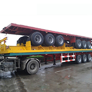CIMC 3 Axles 20ft 40ft Container Flatbed Semi Trailer Low Price
