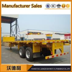 China high- quality 40ft two-axle flatbed semi trailer container semitrailer