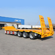 CIMC 3 Axles 60tons Low Bed Semi Trailer Transportation Use Low Price